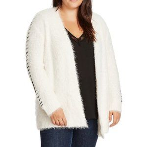 NEW 1.State 2X Whipstitch Trim Cardigan Sweater